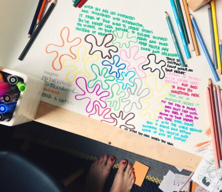 Image of colors and notes by Ashley Lauren Snyder